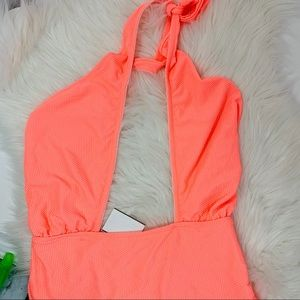 TopShop sexy one piece Coral Pink color